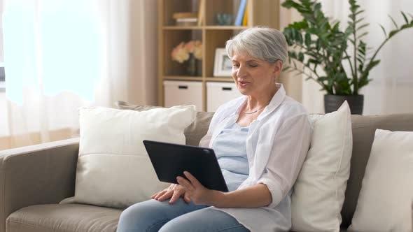 Thumbnail for Senior Woman Having Video Chat on Tablet Pc 18