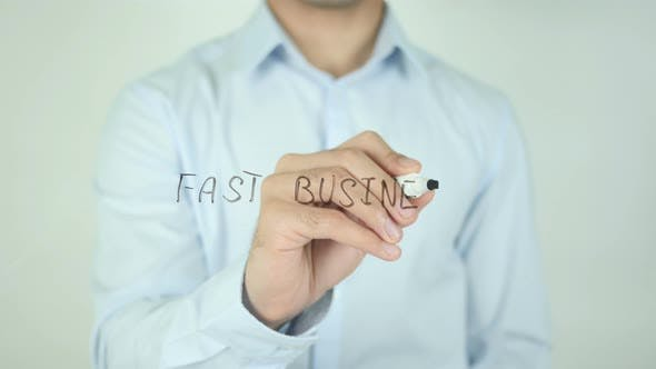 Thumbnail for Fast Business, Writing On Screen