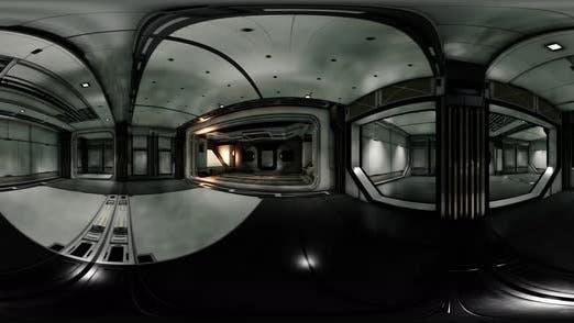 Vr360 Ansicht des Raumschiff-Innenraums