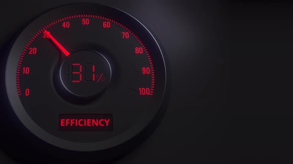 Thumbnail for Red and Black Efficiency Meter or Indicator