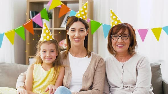 Thumbnail for Mother, Daughter and Grandmother at Birthday Party