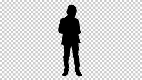 Silhouette boy, Alpha Channel