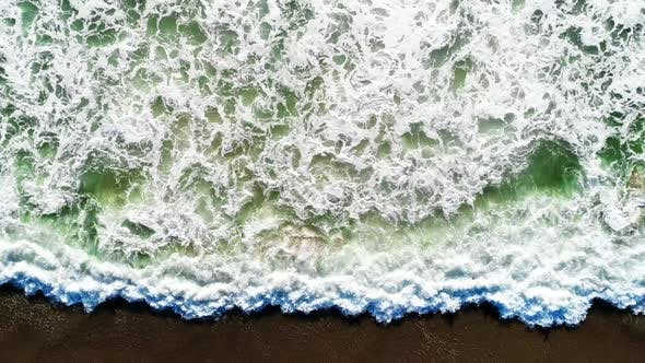 Overhead Sea Waves Aerial Background