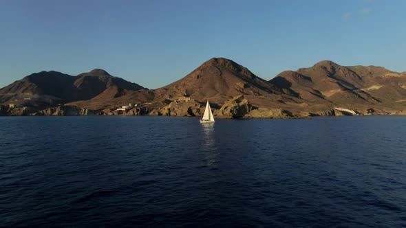 Thumbnail for Sailboat with Spain Landscape on the Background
