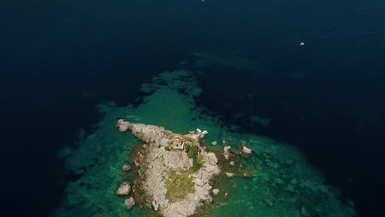 Thumbnail for Beautiful Island With Church in the Adriatic Sea
