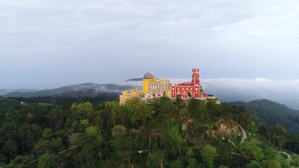 Thumbnail for Cityscape, Palace Of Pena at Sunrise, Sintra, Portugal