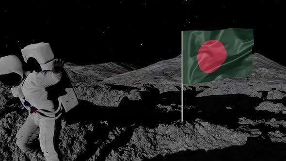 Thumbnail for Astronaut Planting Bangladesh Flag on the Moon