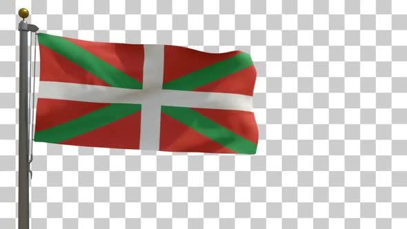 Thumbnail for Basque Flag on Flagpole with Alpha Channel