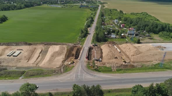 Thumbnail for Highway Construction Aerial View