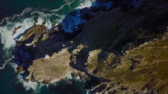 Thumbnail for Aerial view of rocky coast around Cape Town, South Africa.