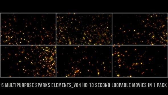 Thumbnail for Multipurpose Sparks Element Pack V04