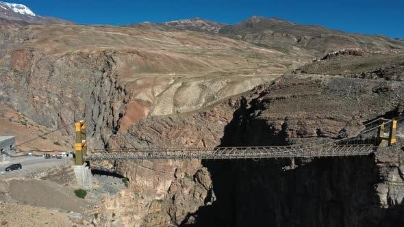Thumbnail for Aerial Shot of Asia's Highest Bridge ,Chicham Bridge in Spiti , Himachal Pradesh , Tilt Down , Going