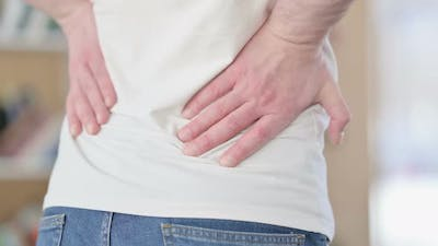 Close Up of Man with Back Pain