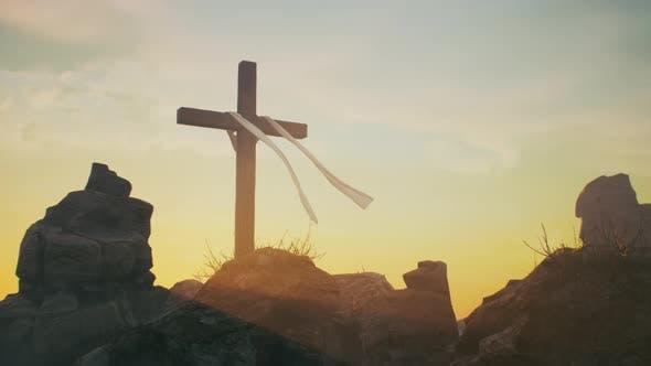 Cross on Jesus Christ Grave