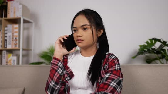 Girl talking with phone