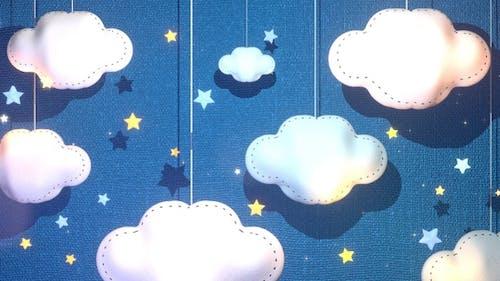 Fabric Clouds Paper Art