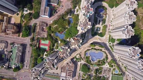 Thumbnail for Top View of Hong Kong City in Tin Tsui Wai