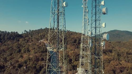 Aerial Of Telecommunication Tower
