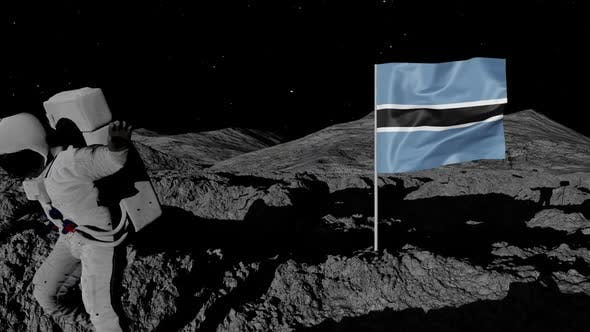 Thumbnail for Astronaut Planting Botswana Flag on the Moon