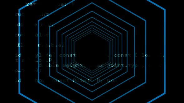 Digital generated video of concentric lines