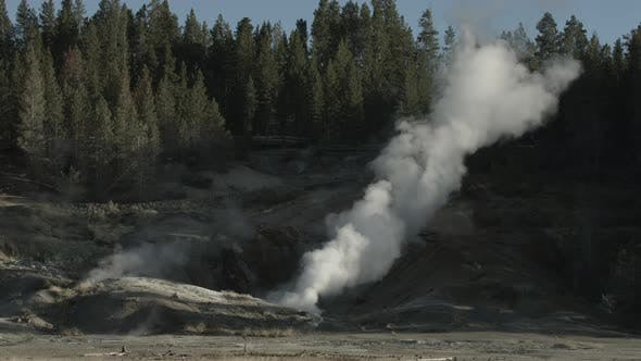 Thumbnail for Steaming fumarole in Yellowstone National Park
