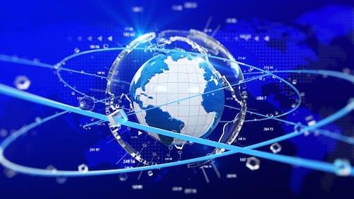 Globe World Новости фон бесшовный цикл