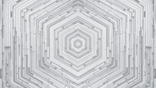 Hexagon Weißer Hintergrund
