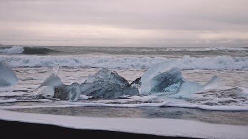 Ice Formations on Diamond Beach Iceland
