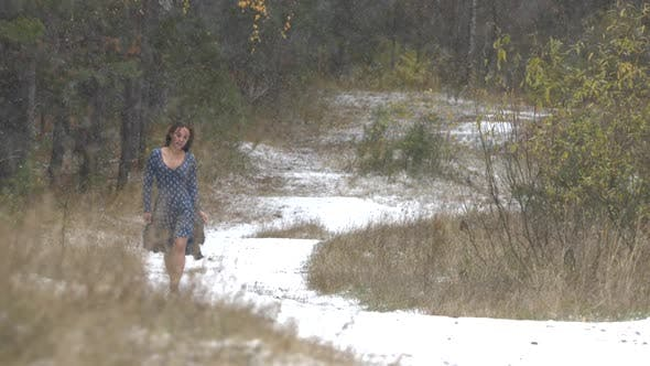Thumbnail for Girl in Forest and First Snow