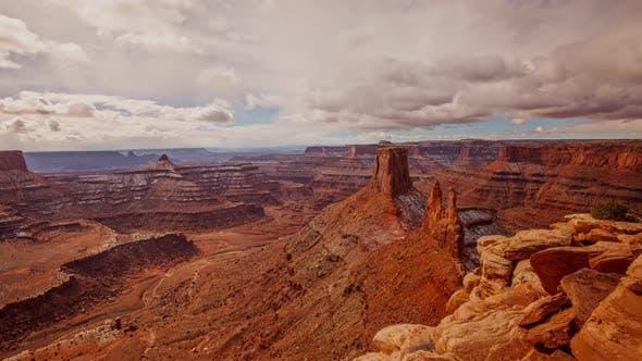 WolkenZeitraffer Canyons Utah Landschaft