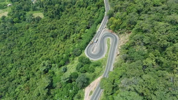 Thumbnail for Flyover A Hairpin Bend Road