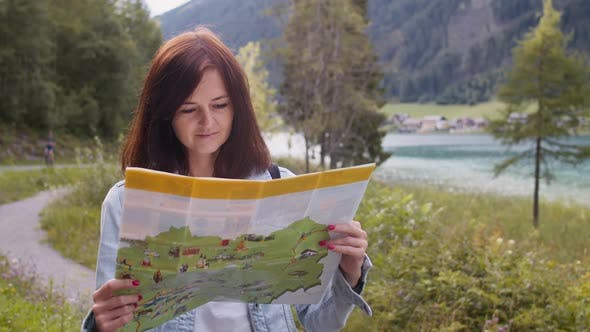 Thumbnail for Woman with a Tourist Map in Austria