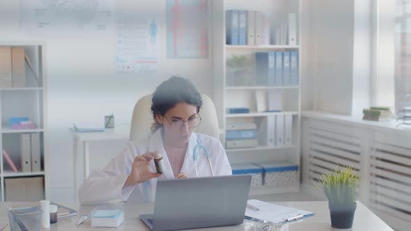 Medical Worker Communicating with Patient Distantly