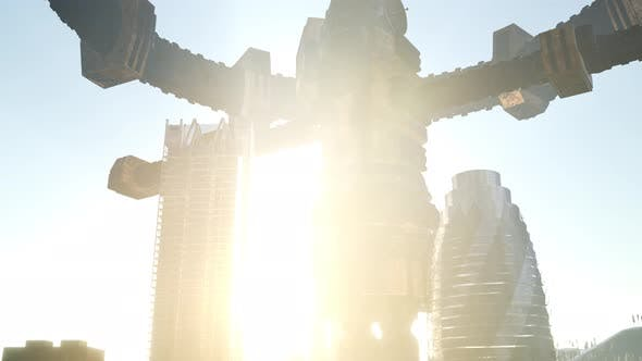 Thumbnail for Alien Spacecraft Above the City