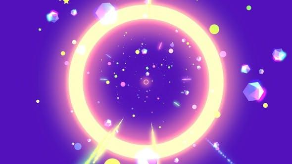 Thumbnail for 4K Neon Purple Geometric World