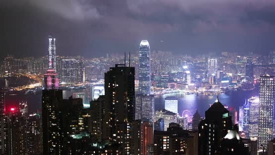 Thumbnail for Hong Kong downtown at night