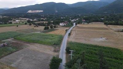 Aerial View Rural Village