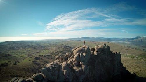 Wanderer Traveller auf Berggipfel