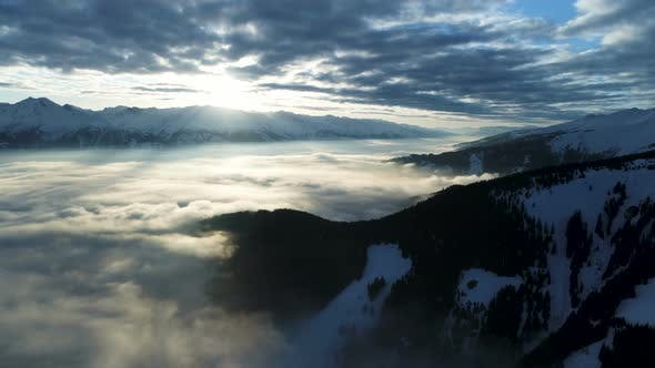 Thumbnail for Cloudy Alps Valley During Sunset