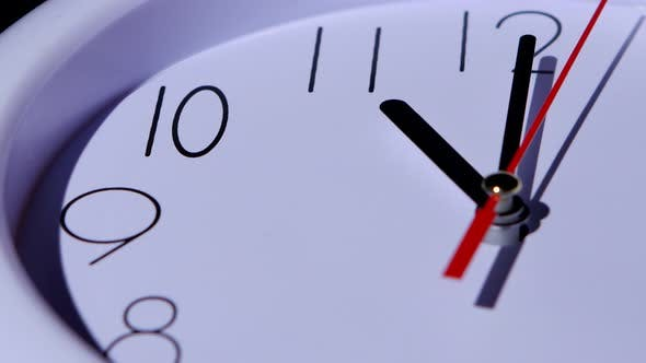 Thumbnail for Time Concept Business Clock Closeup on White Background