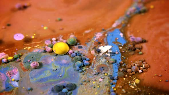 Thumbnail for Abstract Colorful Acrylic And Food Paint Bubbles On Water  36