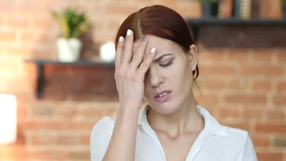Cover Image for Tense Woman with Headache, Frustration
