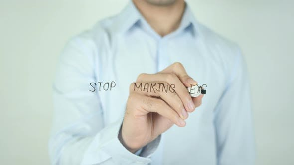 Thumbnail for Stop Making Excuse, Writing On Screen