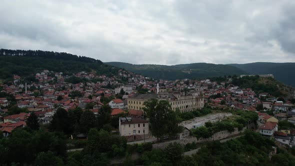Aerial View Of Sarajevo Old Town 4K