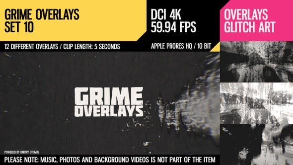 Grime Overlays (4K Set 10)