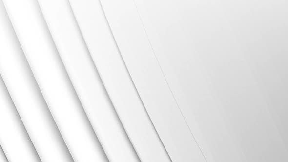 3D curved lines moving against white background