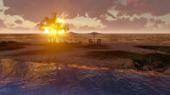 Beach Pool Sunset
