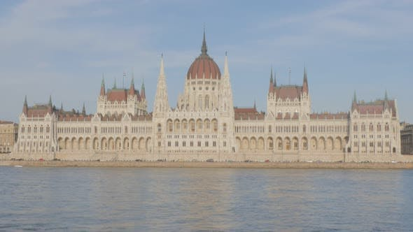 Thumbnail for Daily parliament building in Budapest Hungary 4K 2160p 30fps UltraHD video - Hungarian national dome