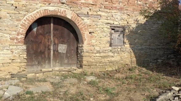 Eastern Serbian old house used as winery 4K aerial footage