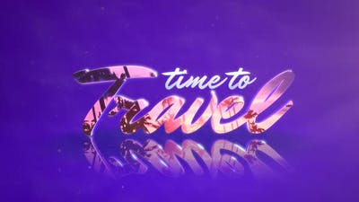 Text Time to Travel with mirror effect